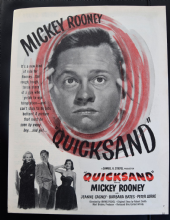 Quicksand (1950) - Mickey Rooney | Vintage Trade Ad